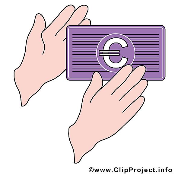 Euro image gratuite – Argent cliparts
