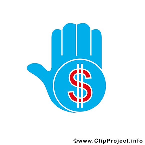 Main dollar images gratuites – Argent clipart