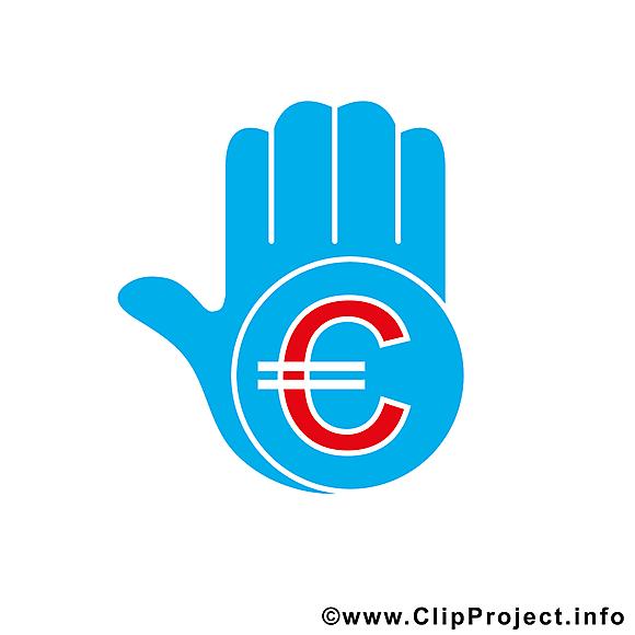 Main euro dessin – Argent clip arts gratuits