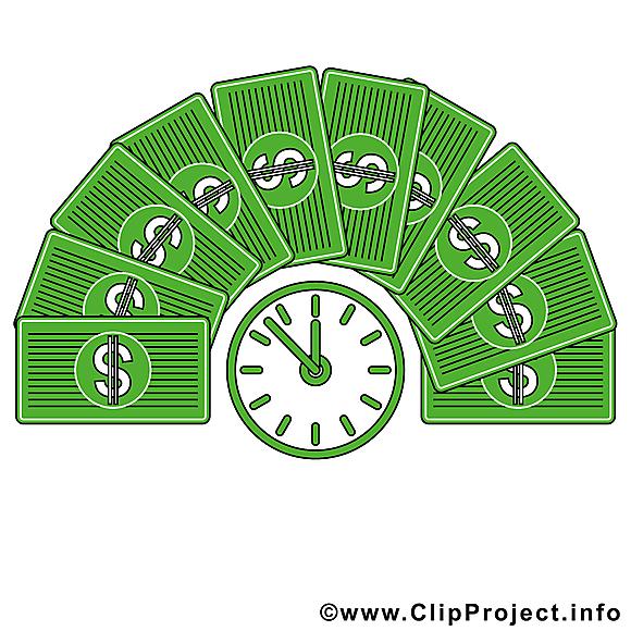 Temps dollars dessin gratuit – Argent image