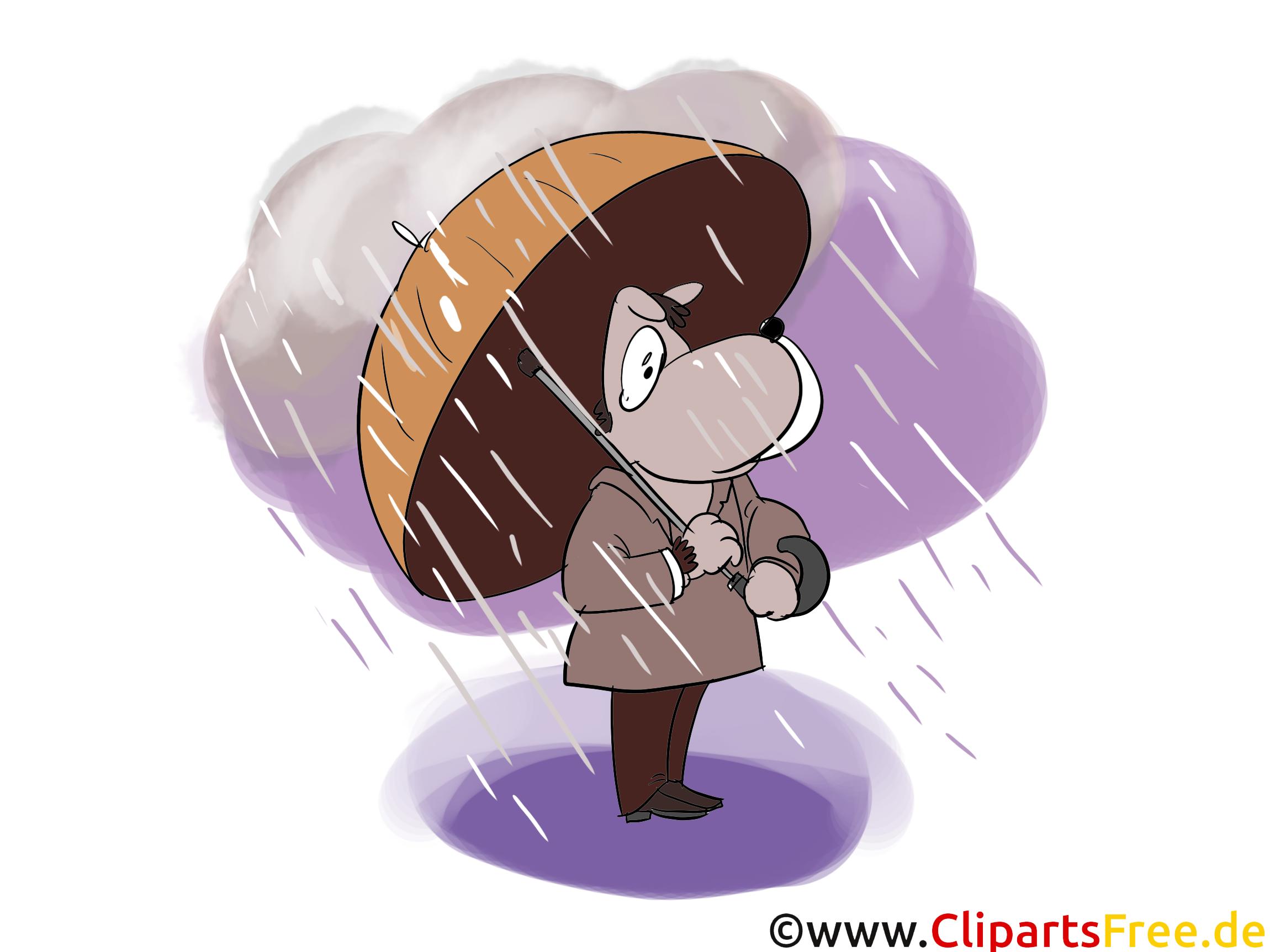 Chien pluie cliparts gratuis – Automne images