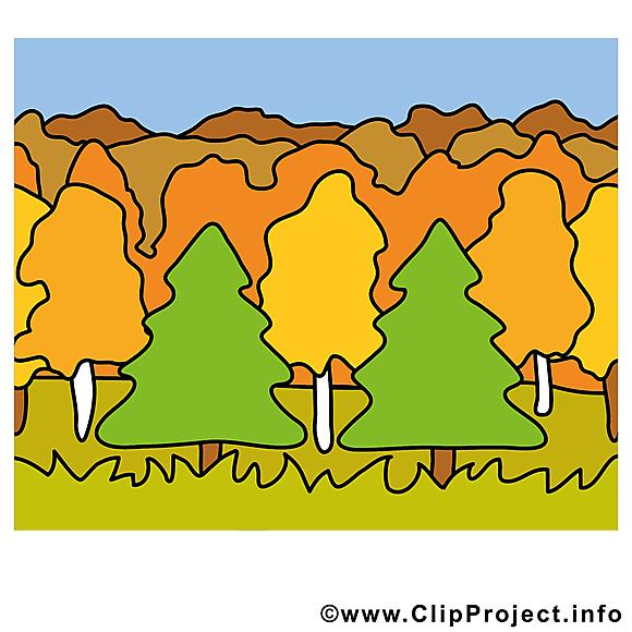 Forêt illustration gratuite – Automne clipart