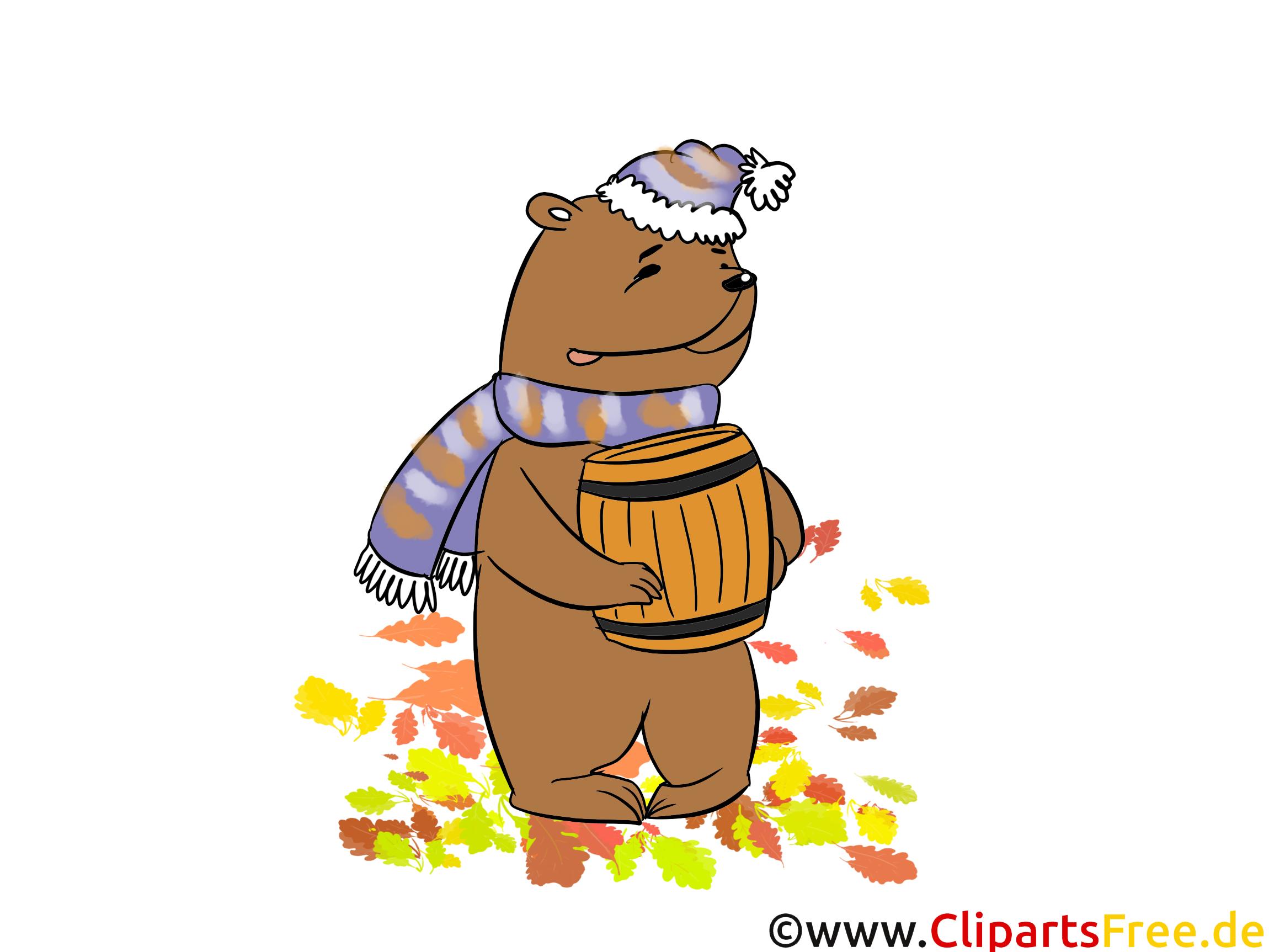 Ours miel dessin gratuit – Automne image