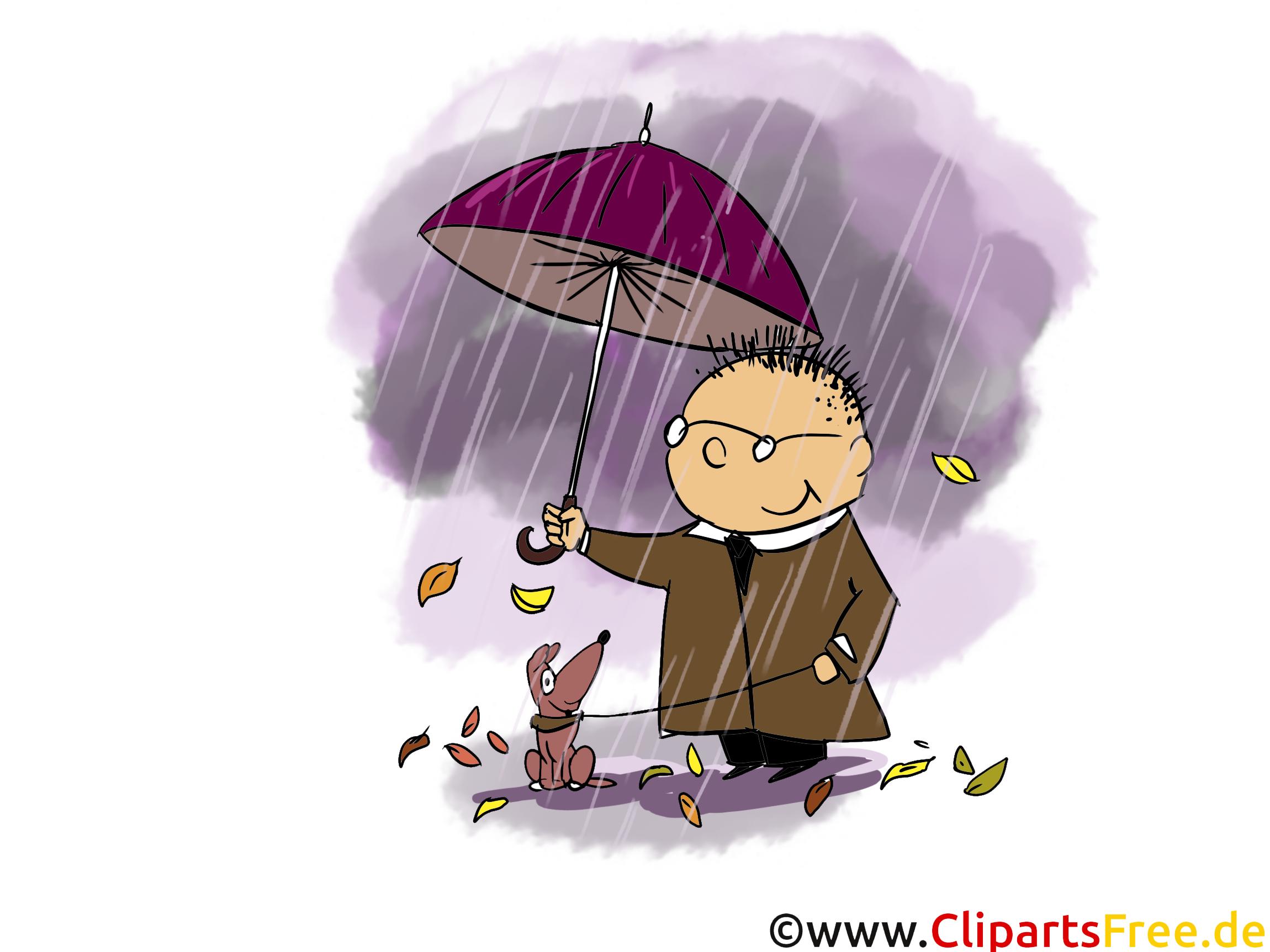 Pluie image gratuite – Automne clipart