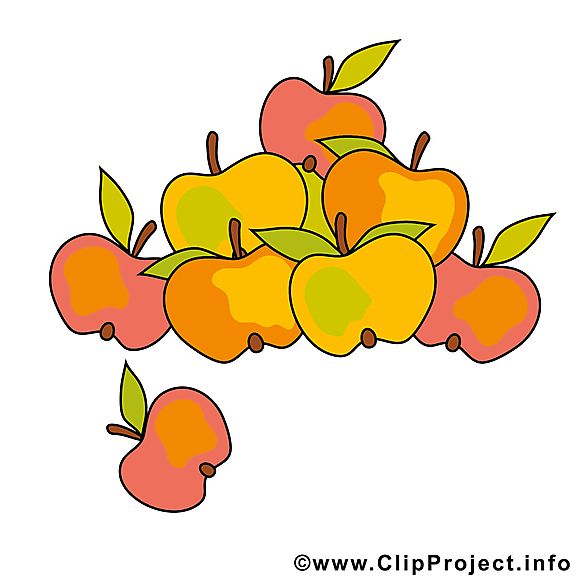 Pommes dessins gratuits – Automne clipart