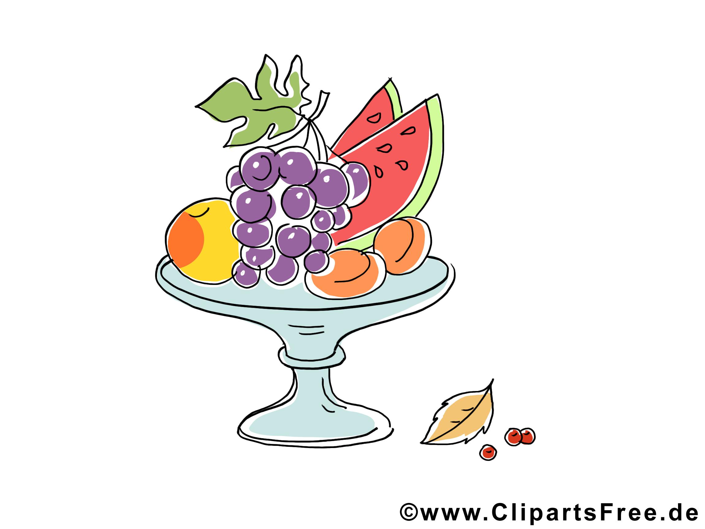 Vase fruits dessin à télécharger – Automne images
