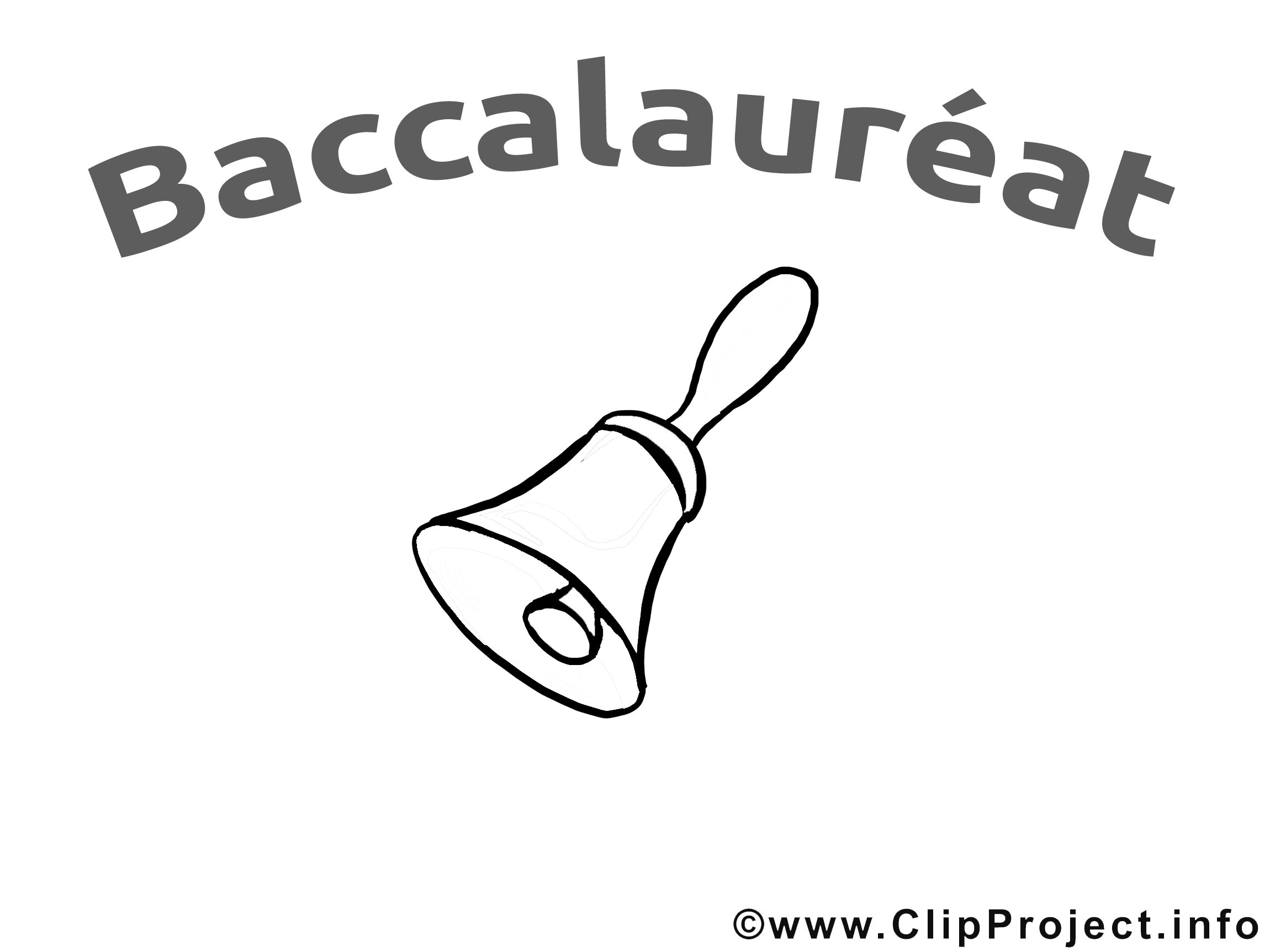 Clochette illustration à colorier – Baccalauréat clipart