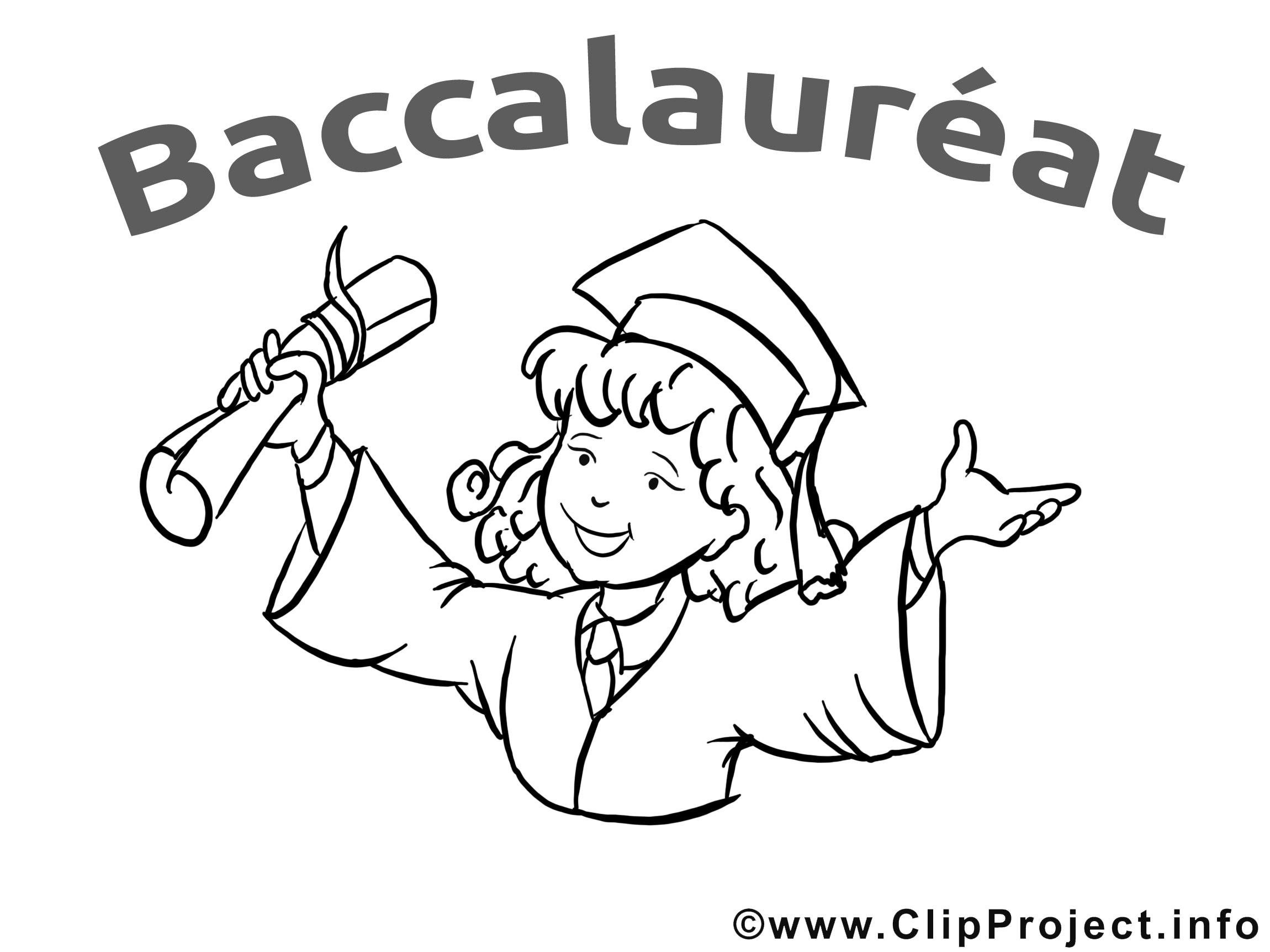 Coloriage clip art gratuit baccalauréat dessin
