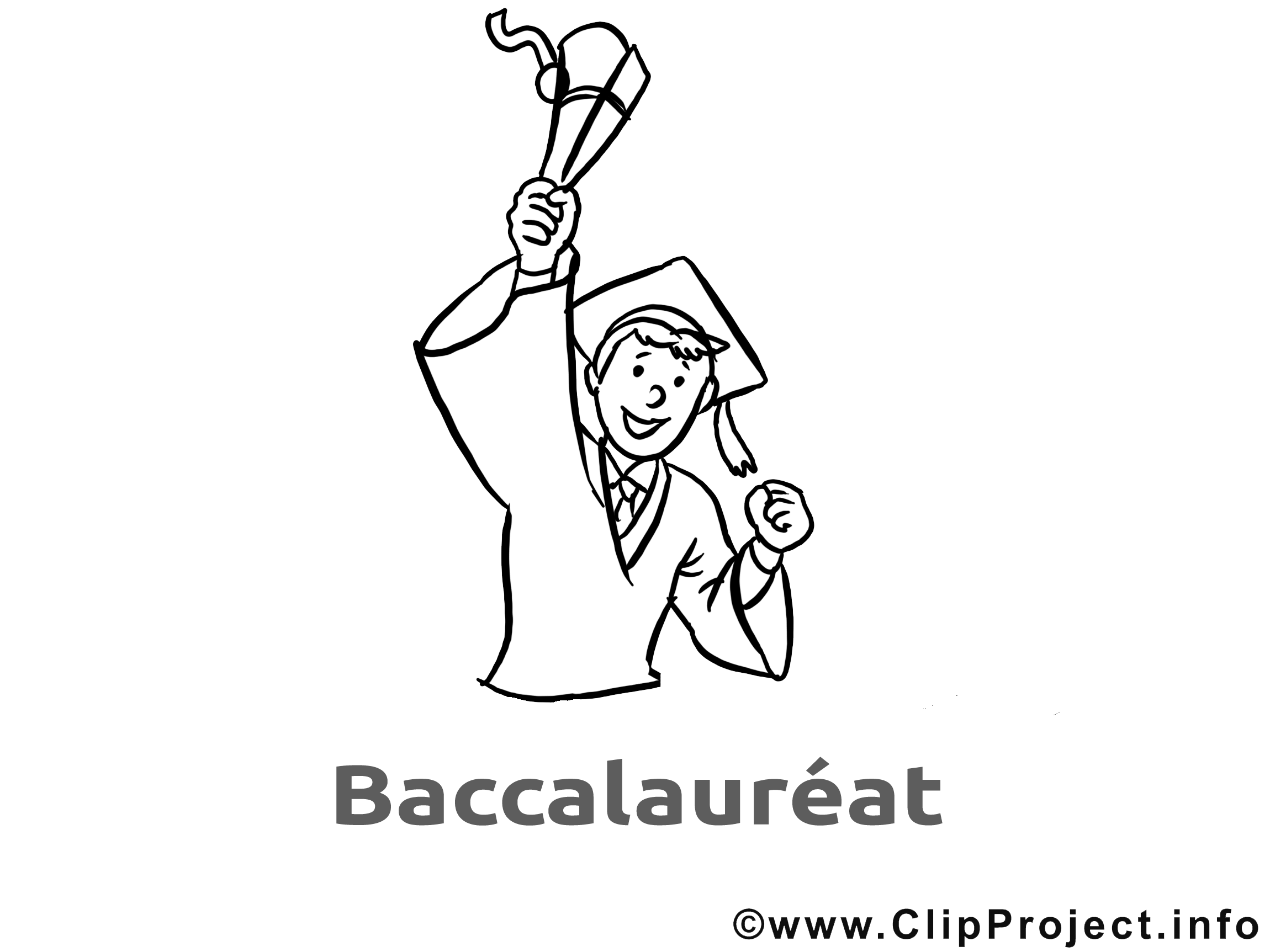 Coloriage dessin gratuit baccalauréat image