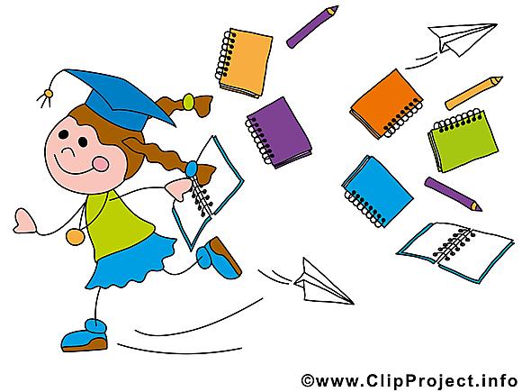 Fourniture scolaire illustration – Baccalauréat clipart