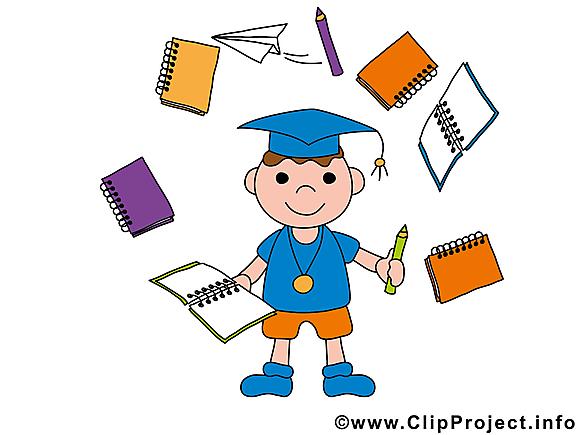 Garçon carnets baccalauréat image gratuite