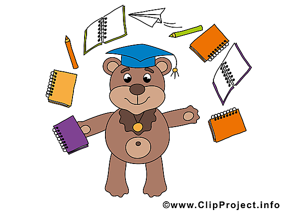 Ours clip arts gratuits – Baccalauréat illustrations