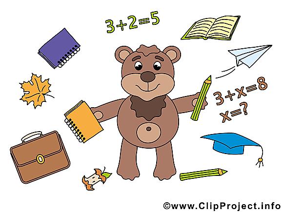 Ours dessins gratuits – Baccalauréat clipart