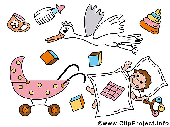 Accessoires dessin – Bébé clip arts gratuits