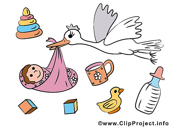 Naissance clip arts gratuits – Bébé illustrations