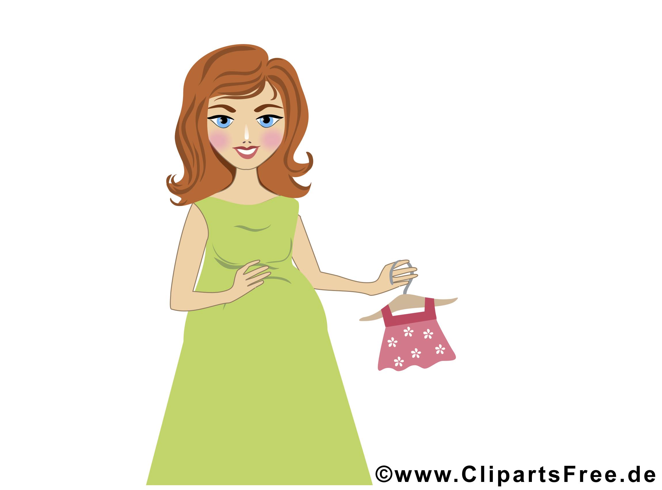 Petite robe dessin – Bébé clip arts gratuits