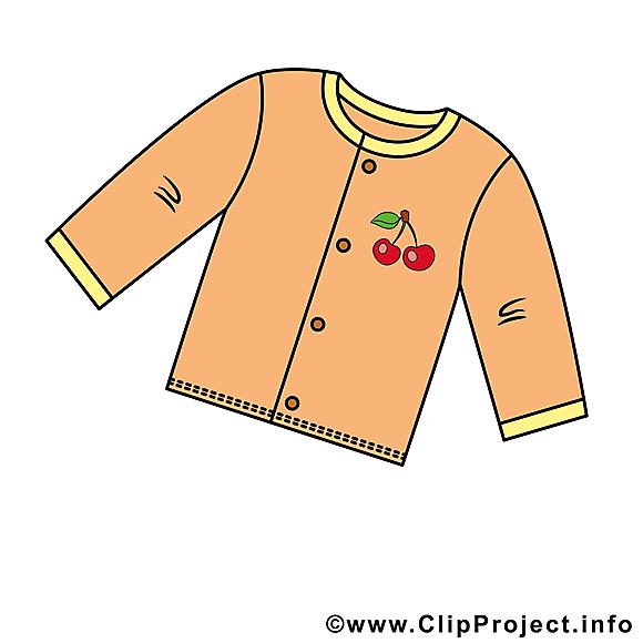 Pyjama clip art – Bébé image gratuite
