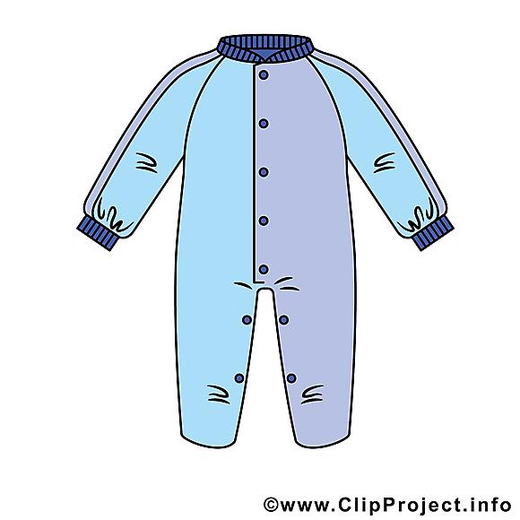 Pyjama dessin – Bébé clip arts gratuits