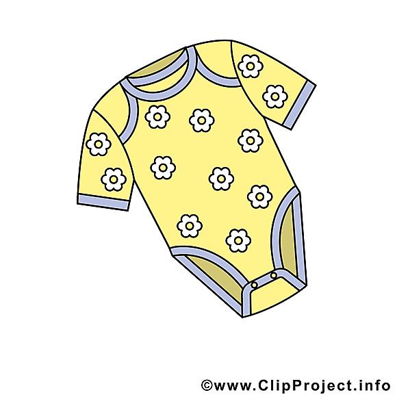 Pyjama illustration gratuite – Bébé clipart