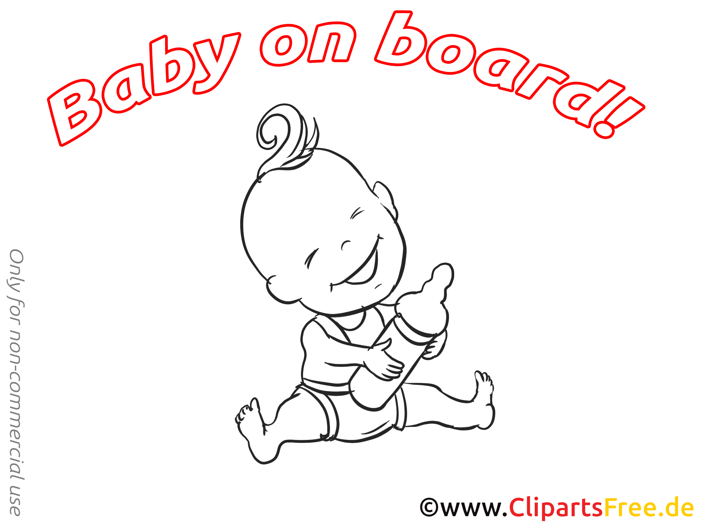 Biberon clip arts à imprimer – Bébé à bord illustrations