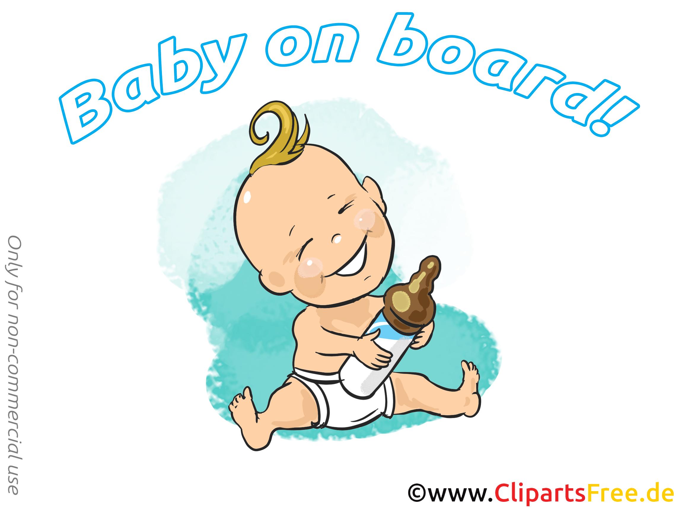 Biberon image gratuite – Bébé à bord cliparts