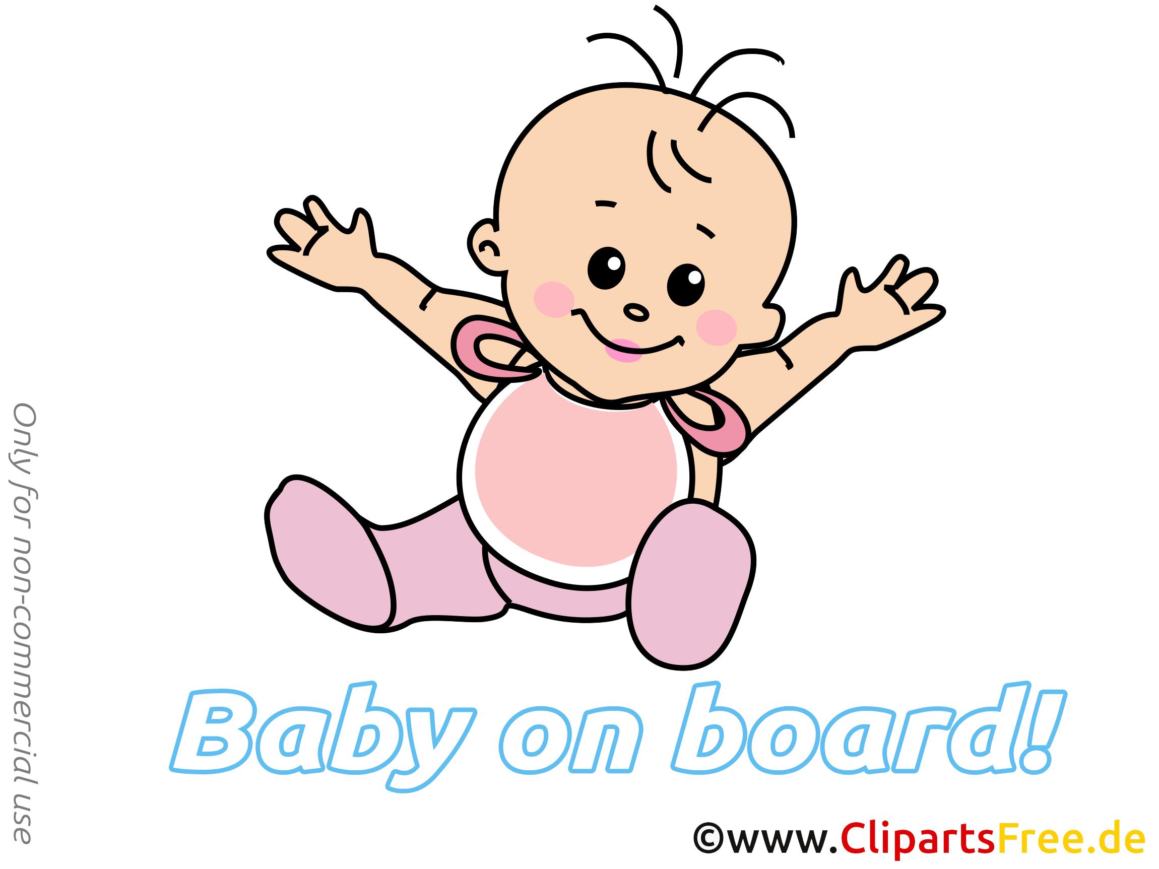 Clip art bébé à bord image gratuite
