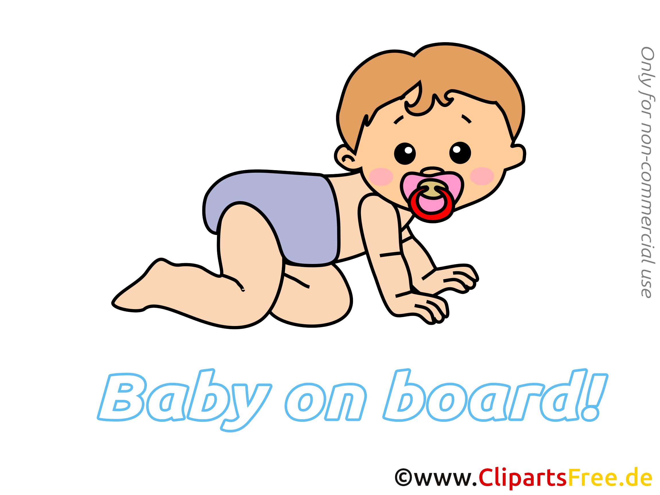 Clip art gratuit enfant – Bébé à bord dessin