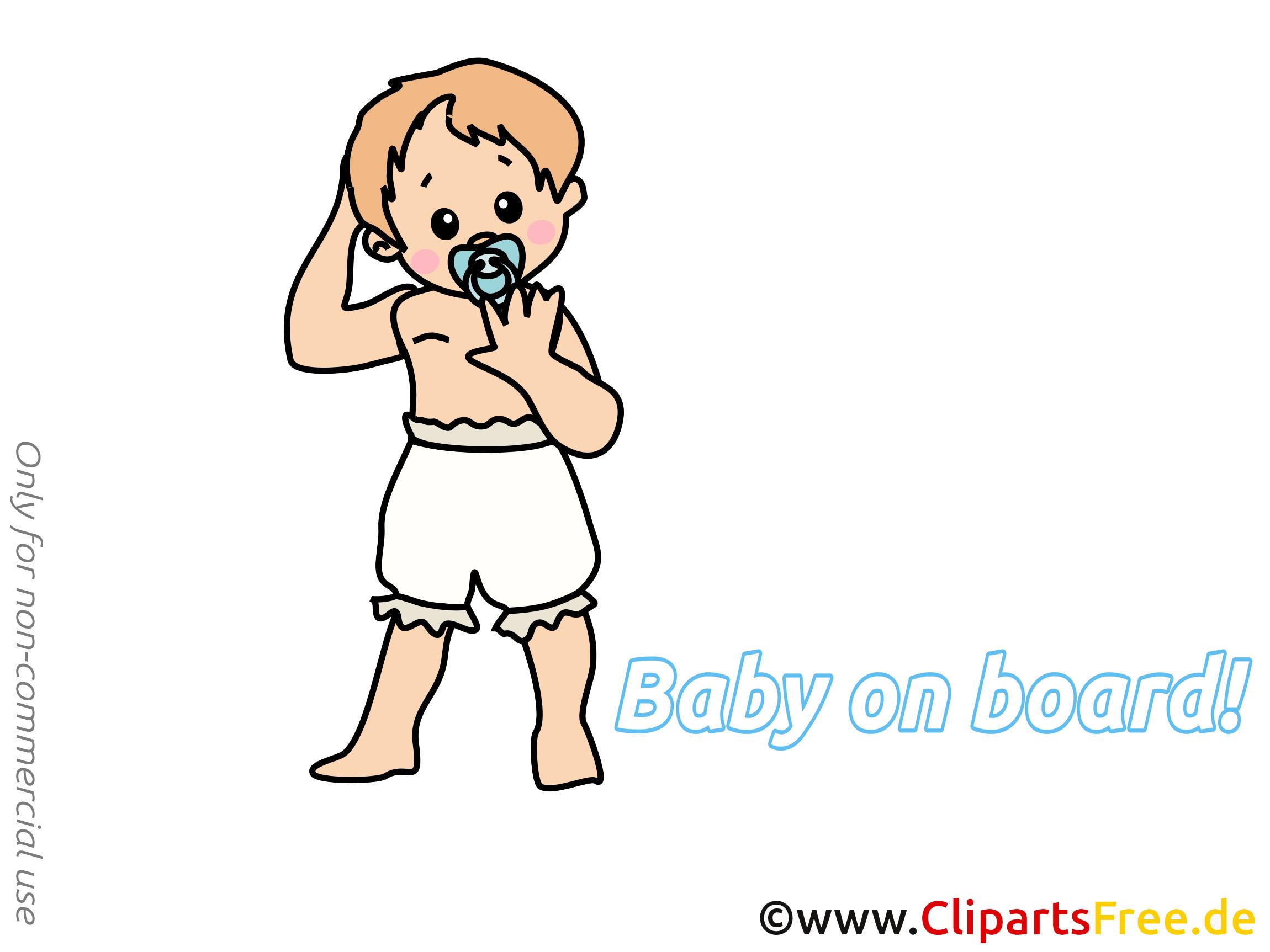 Clip arts gratuits enfant – Bébé à bord illustrations