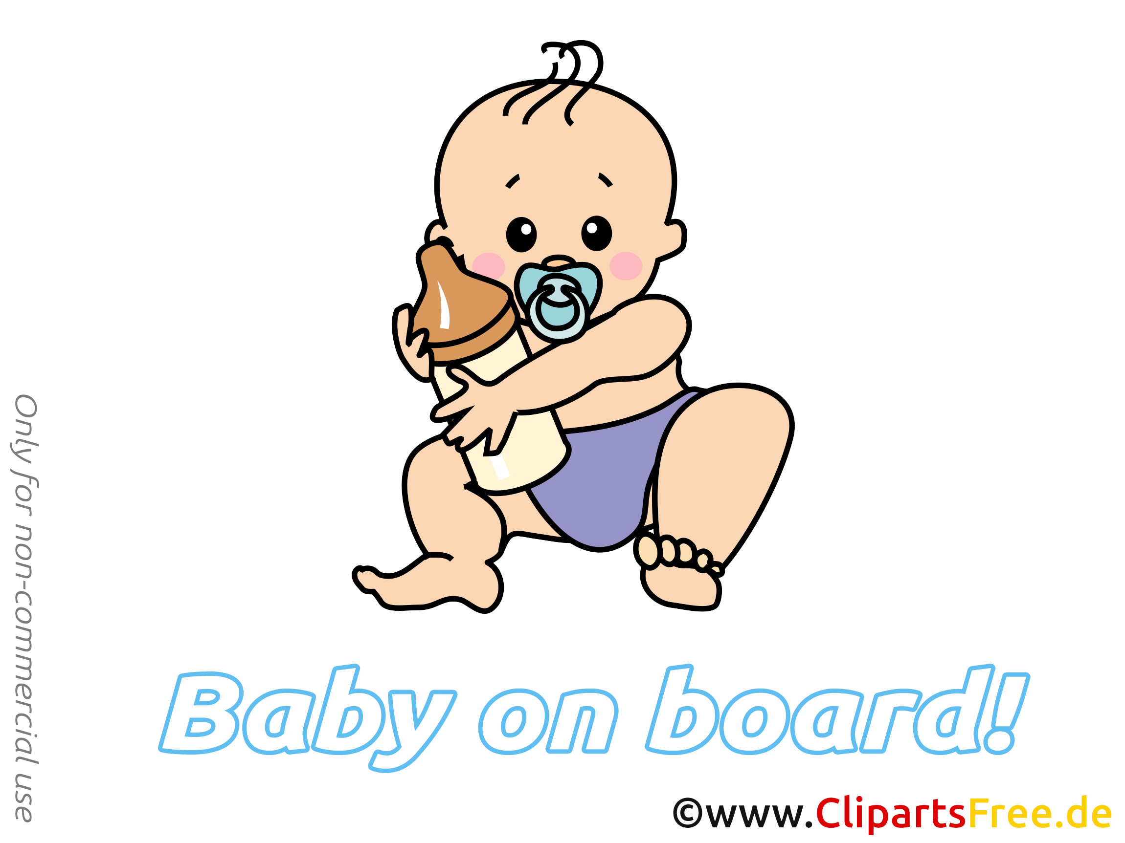 Clipart biberon – Bébé à bord dessins gratuits