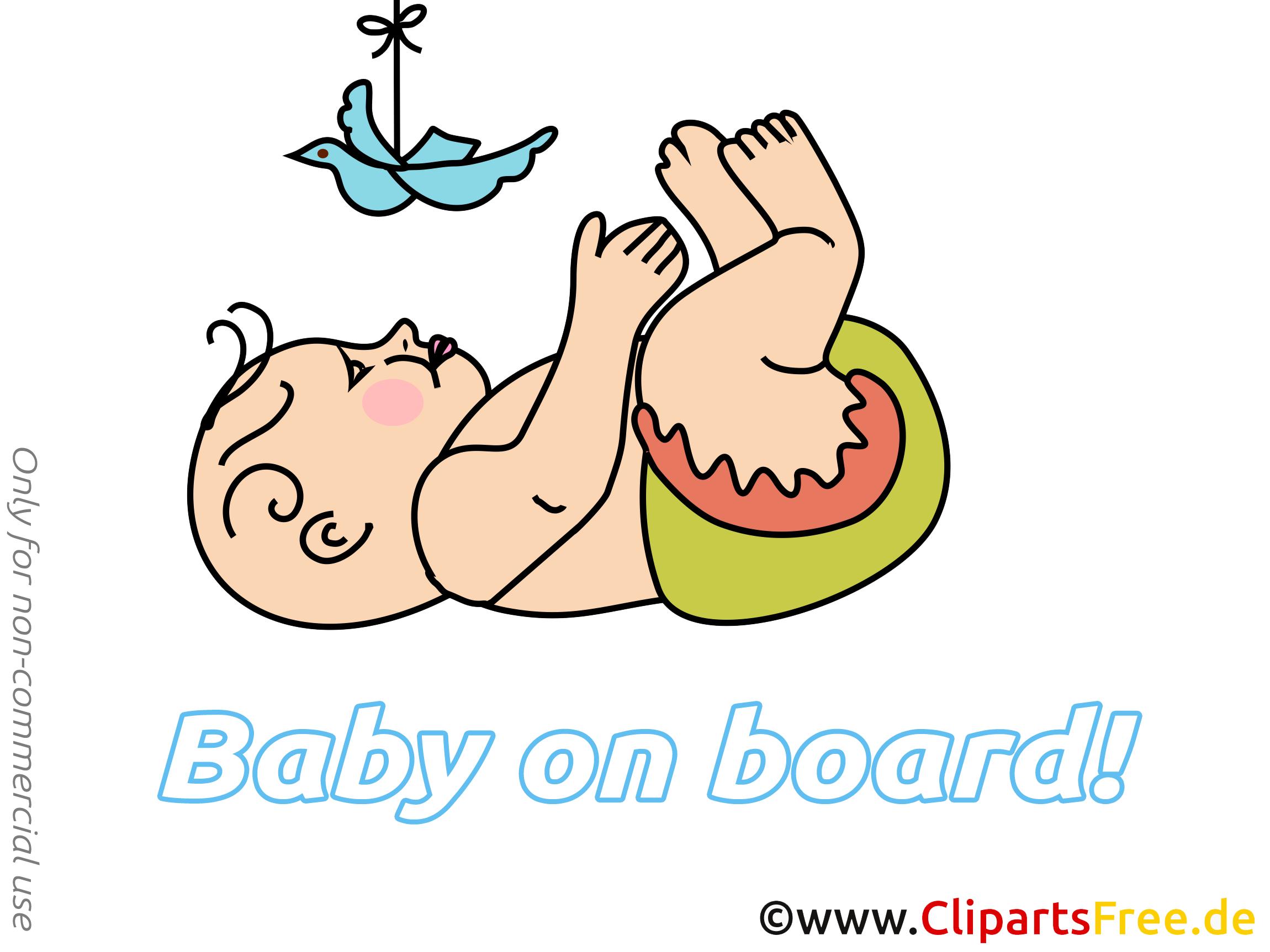 Colombe en papier illustration – Bébé à bord clipart