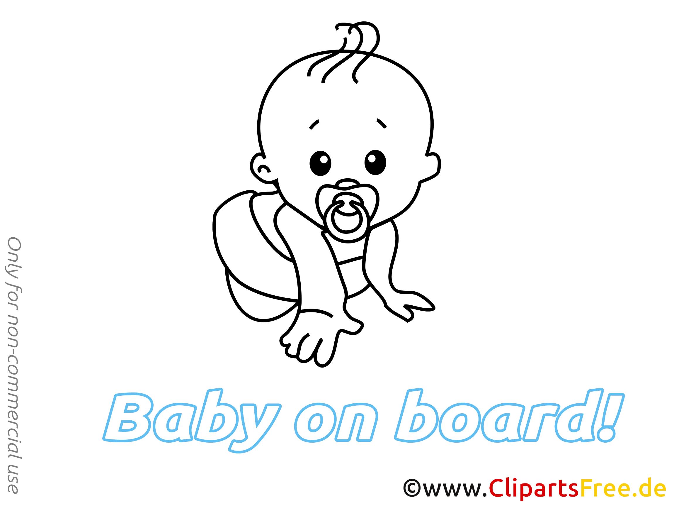 Dessin bébé à bord clip arts gratuits