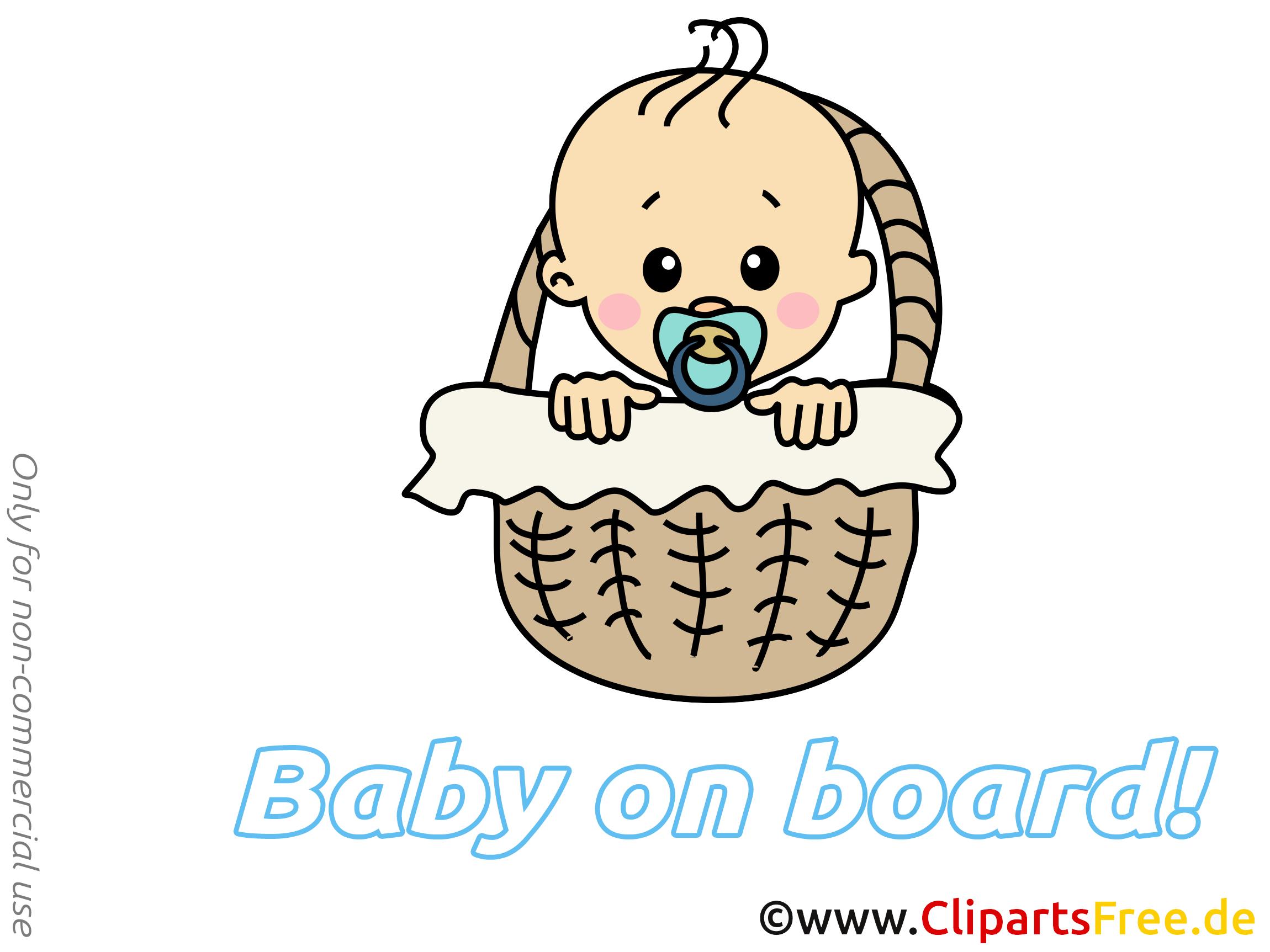 Dessin gratuit panier – Bébé à bord image