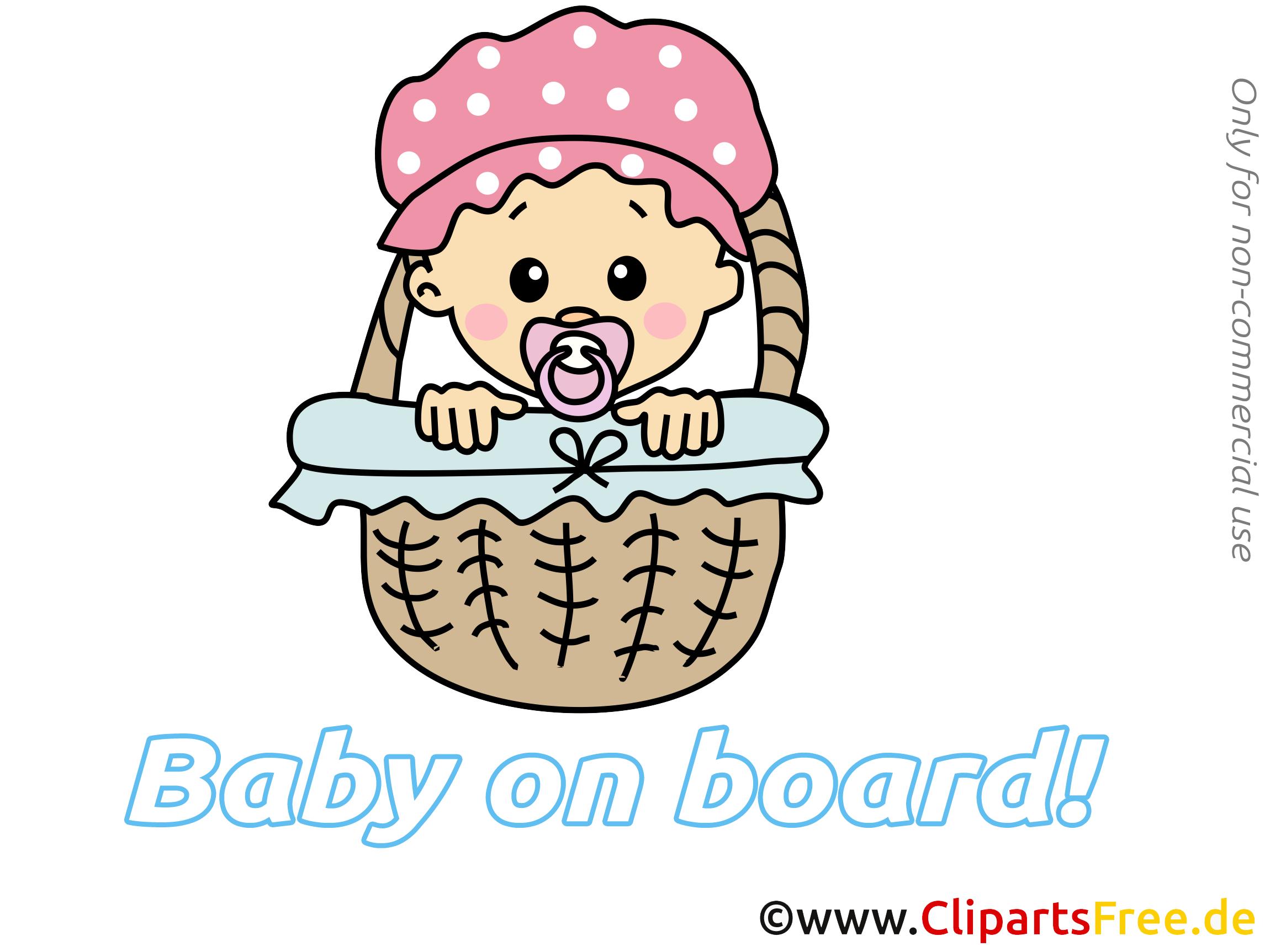 Panier images – Bébé à bord clip art gratuit