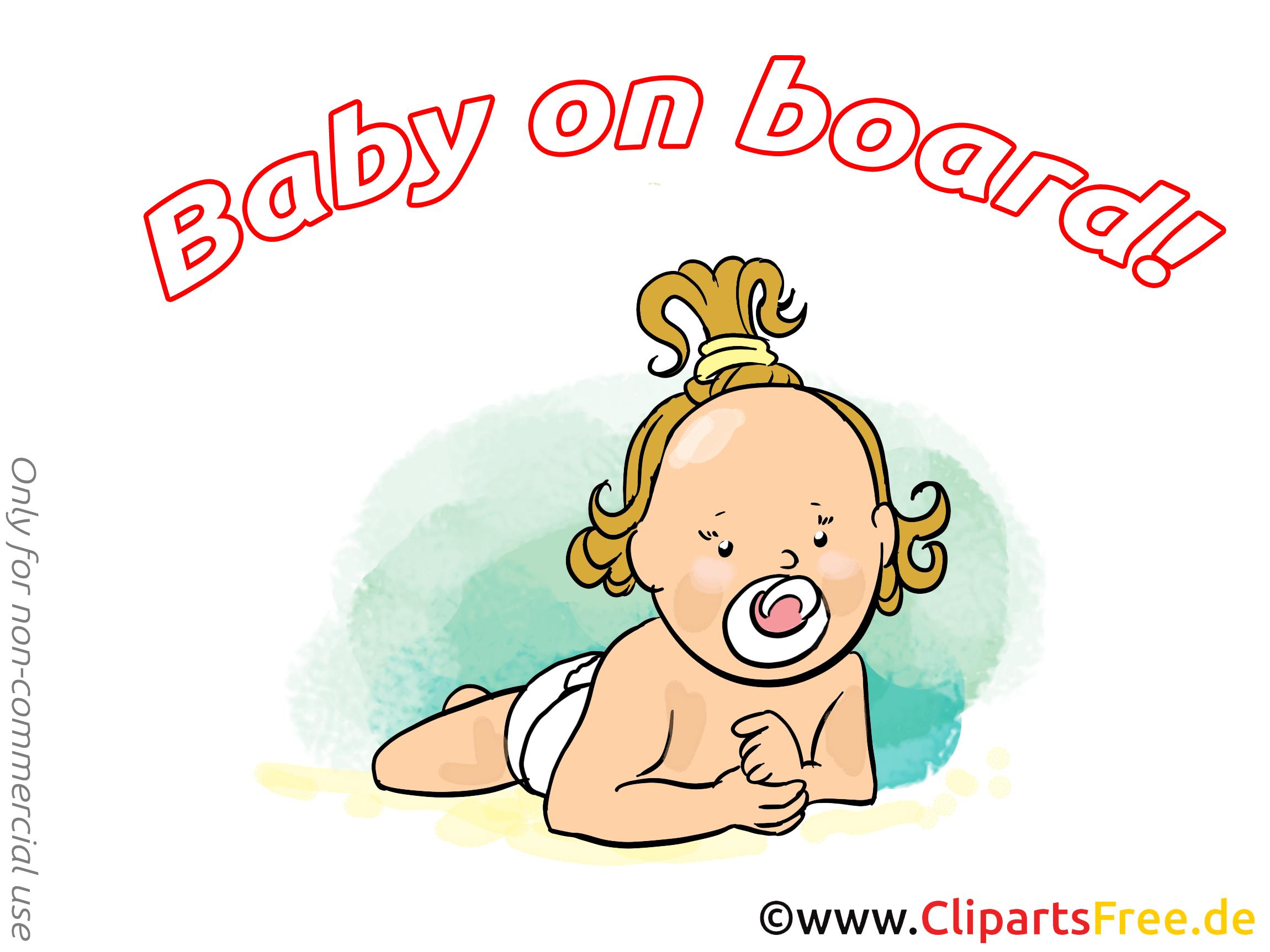 Petite fille image gratuite – Bébé à bord cliparts