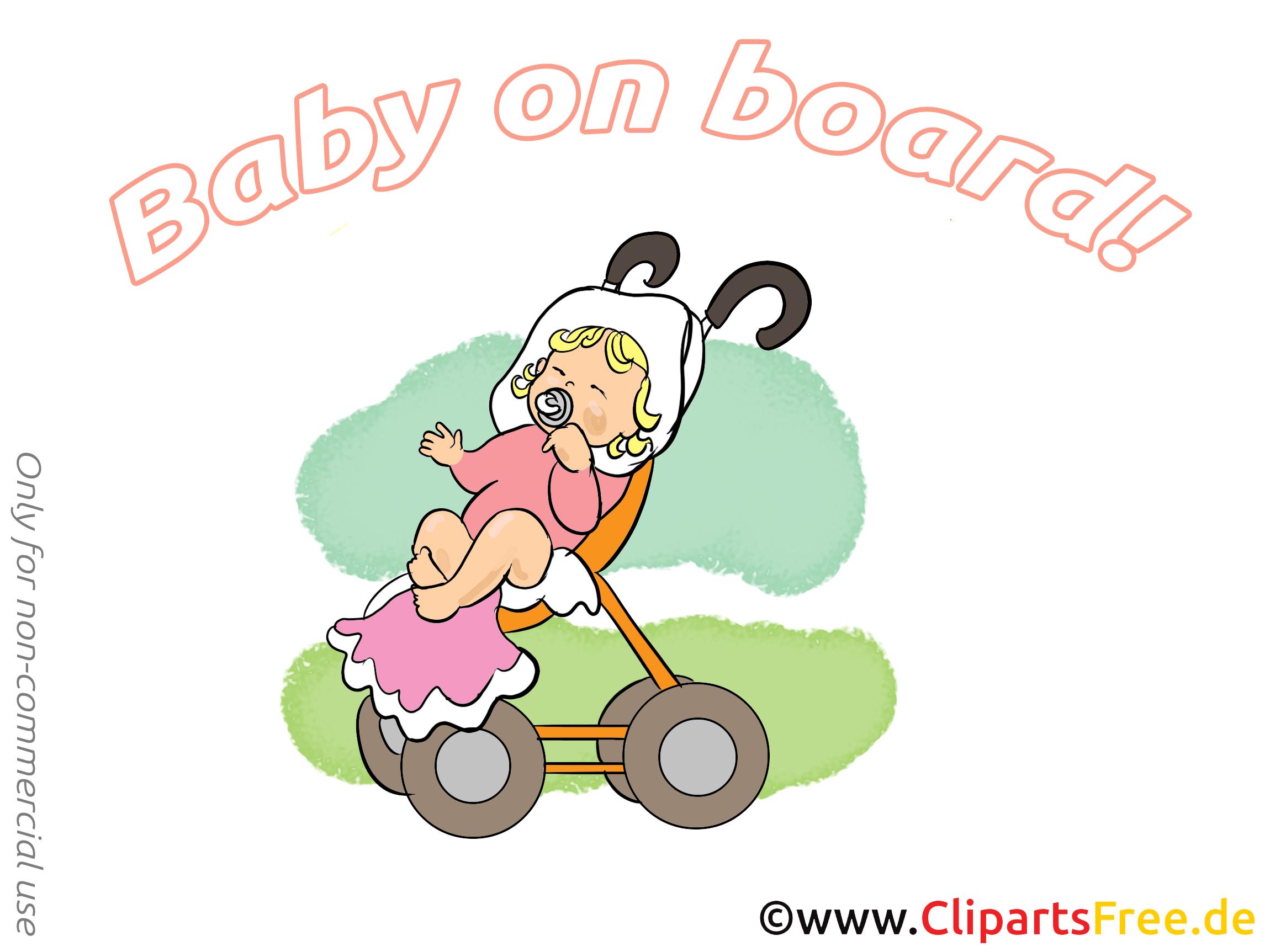 Poussette illustration – Bébé à bord images