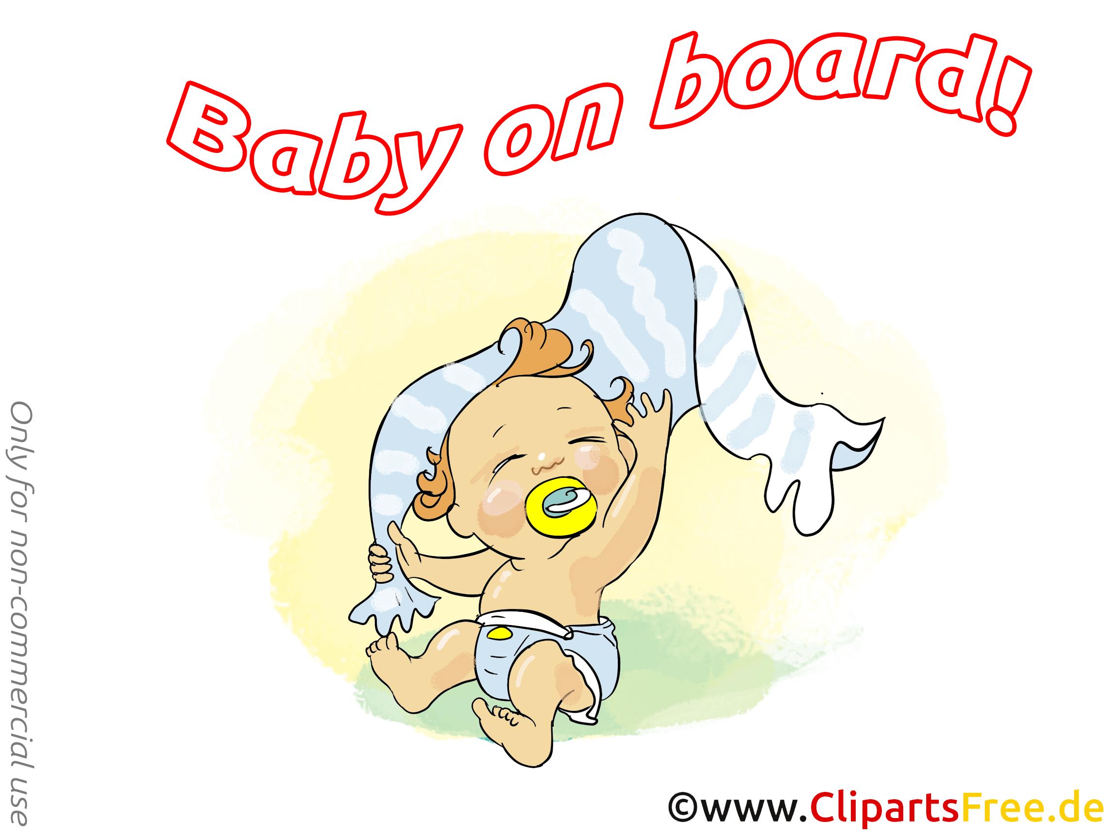 Serviette clip art gratuit – Bébé à bord images