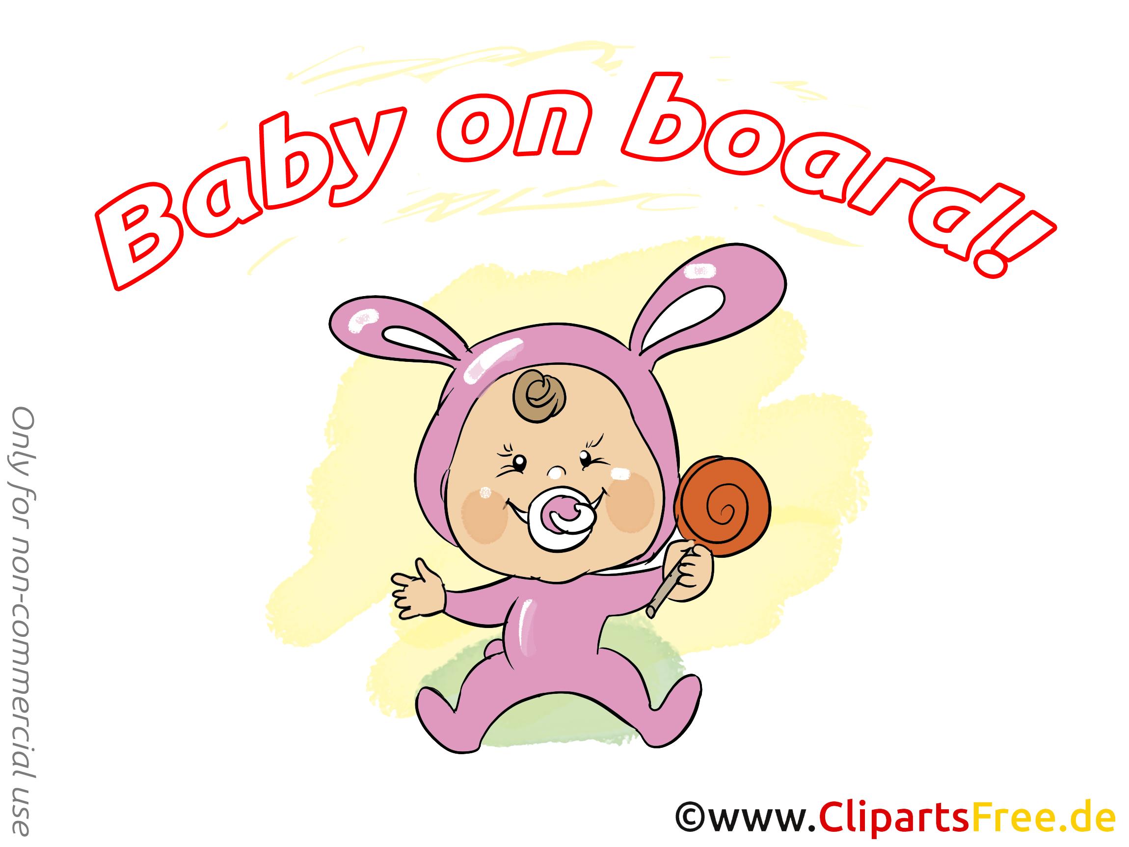 Sucette clip art gratuit – Bébé à bord images