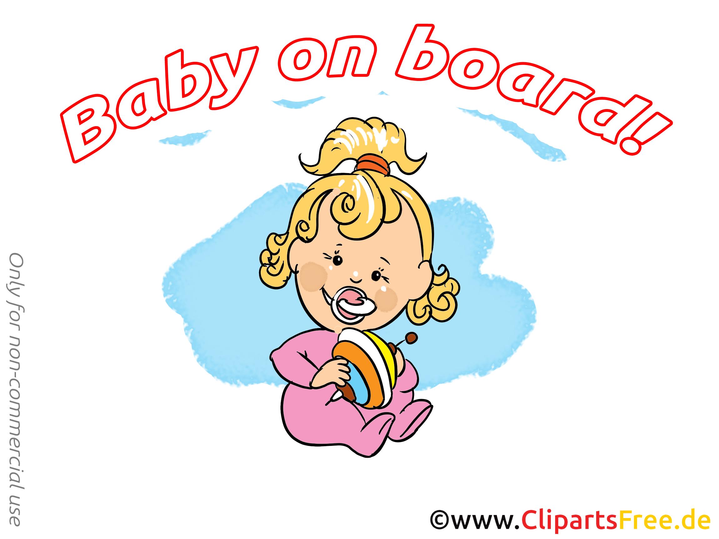 Toupie clip art gratuit – Bébé à bord dessin
