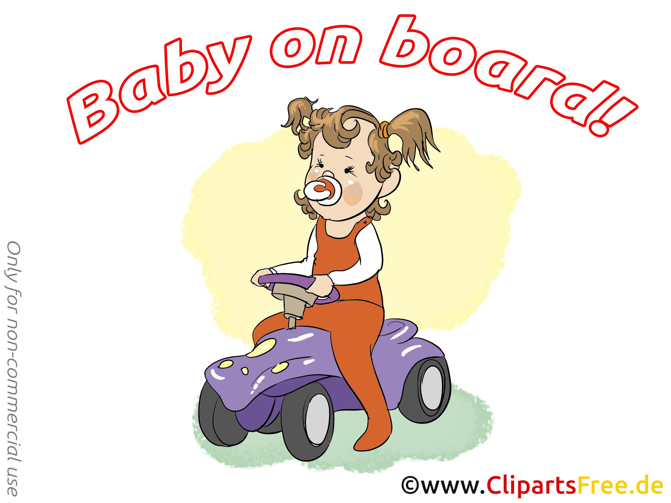 Voiture cliparts gratuis – Bébé à bord images