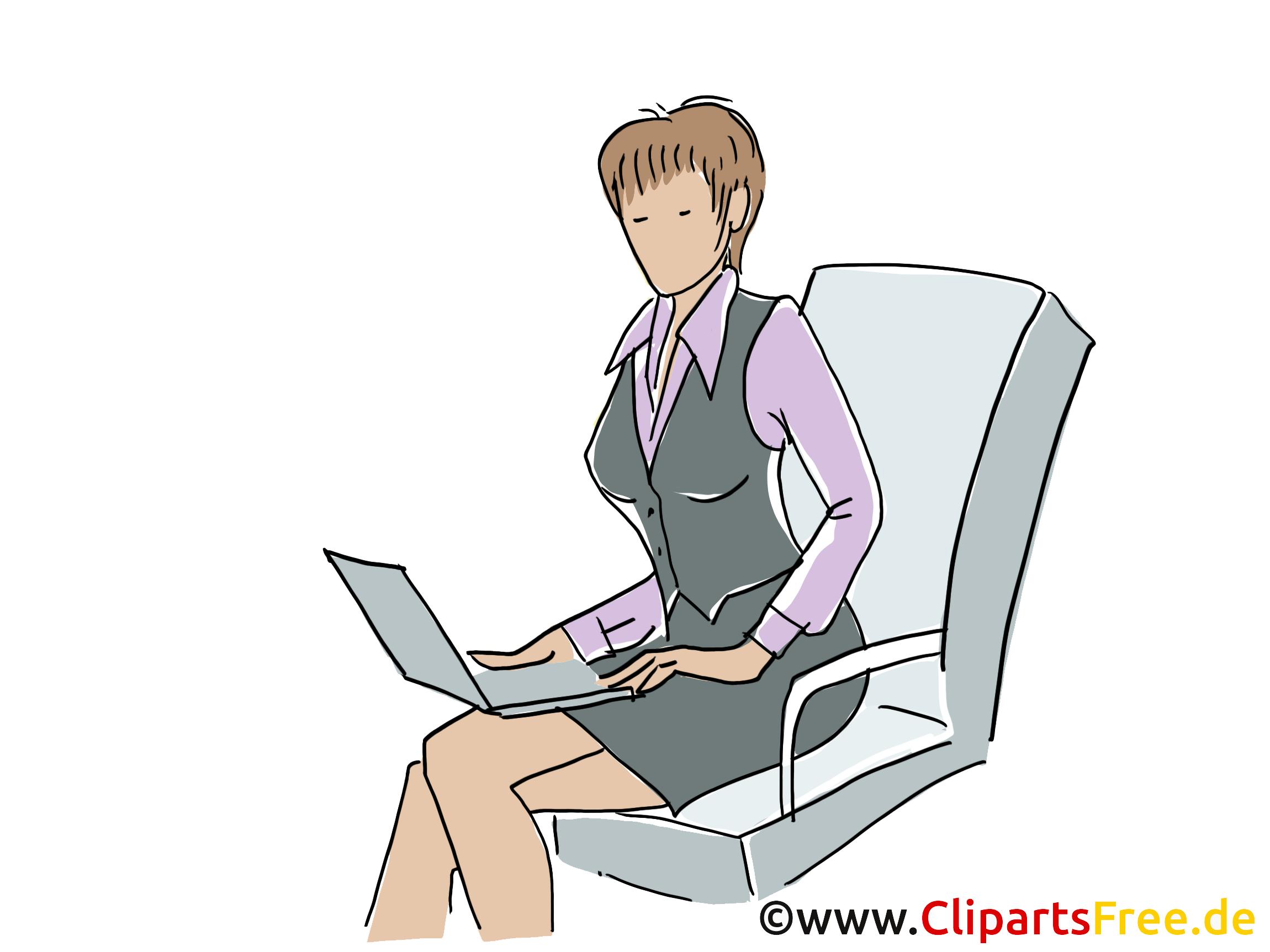 Femme d'affaire illustration gratuite – Entreprise clipart