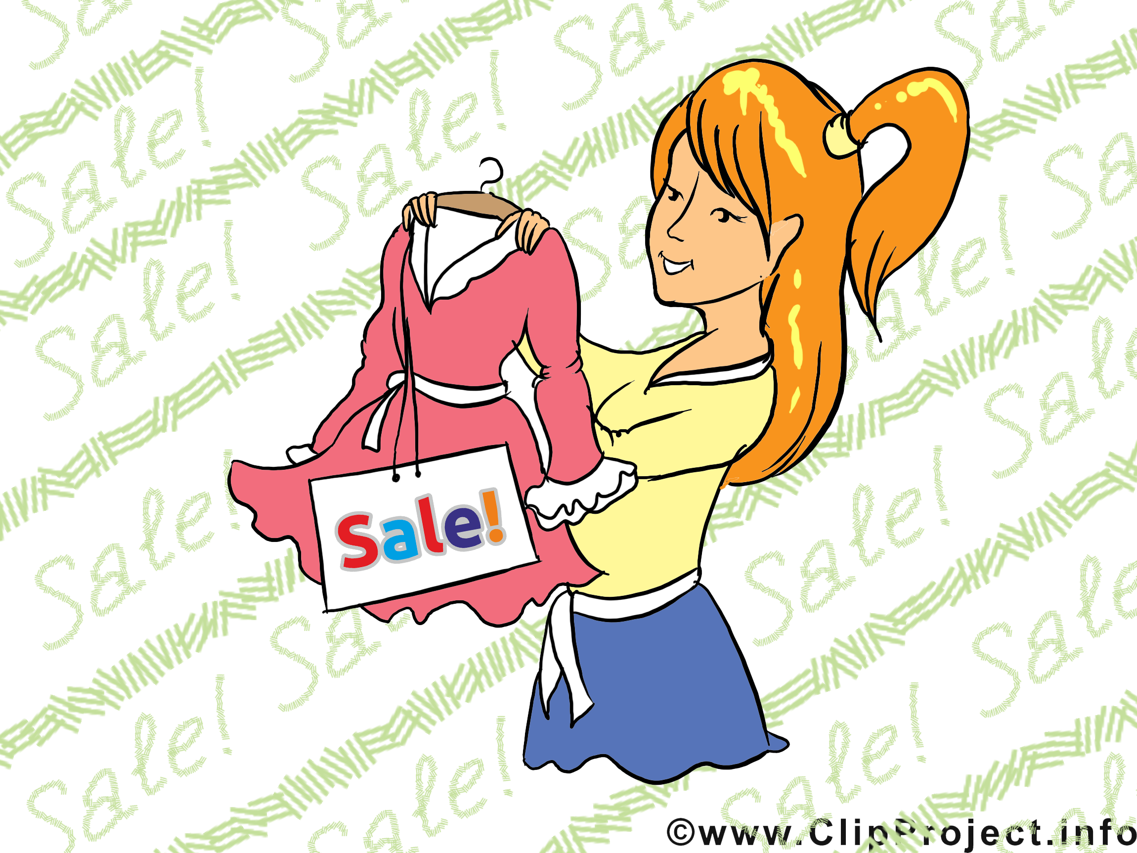 Shoping illustration gratuite – Entreprise clipart