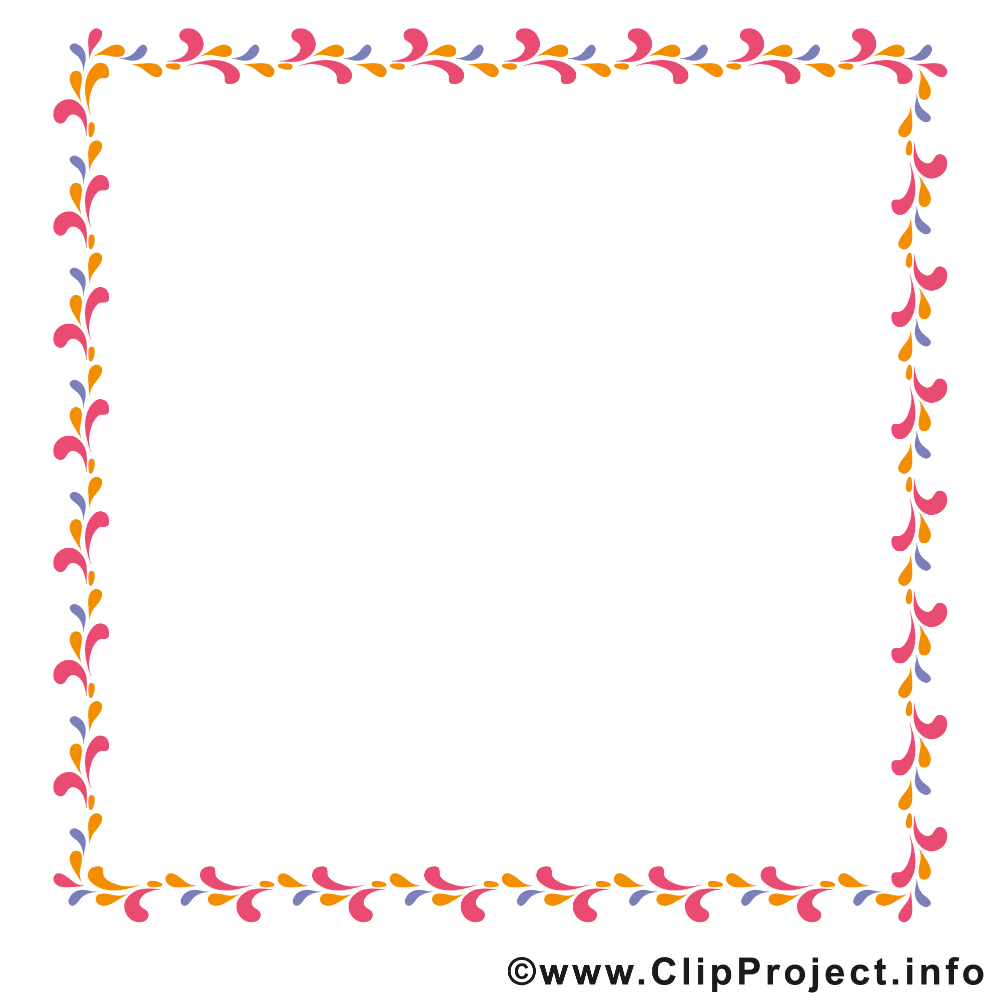 Bordure dessins gratuits – Cadre clipart - Cadres dessin ...