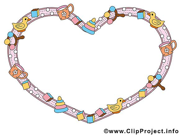Coeur dessin à télécharger – Cadre images