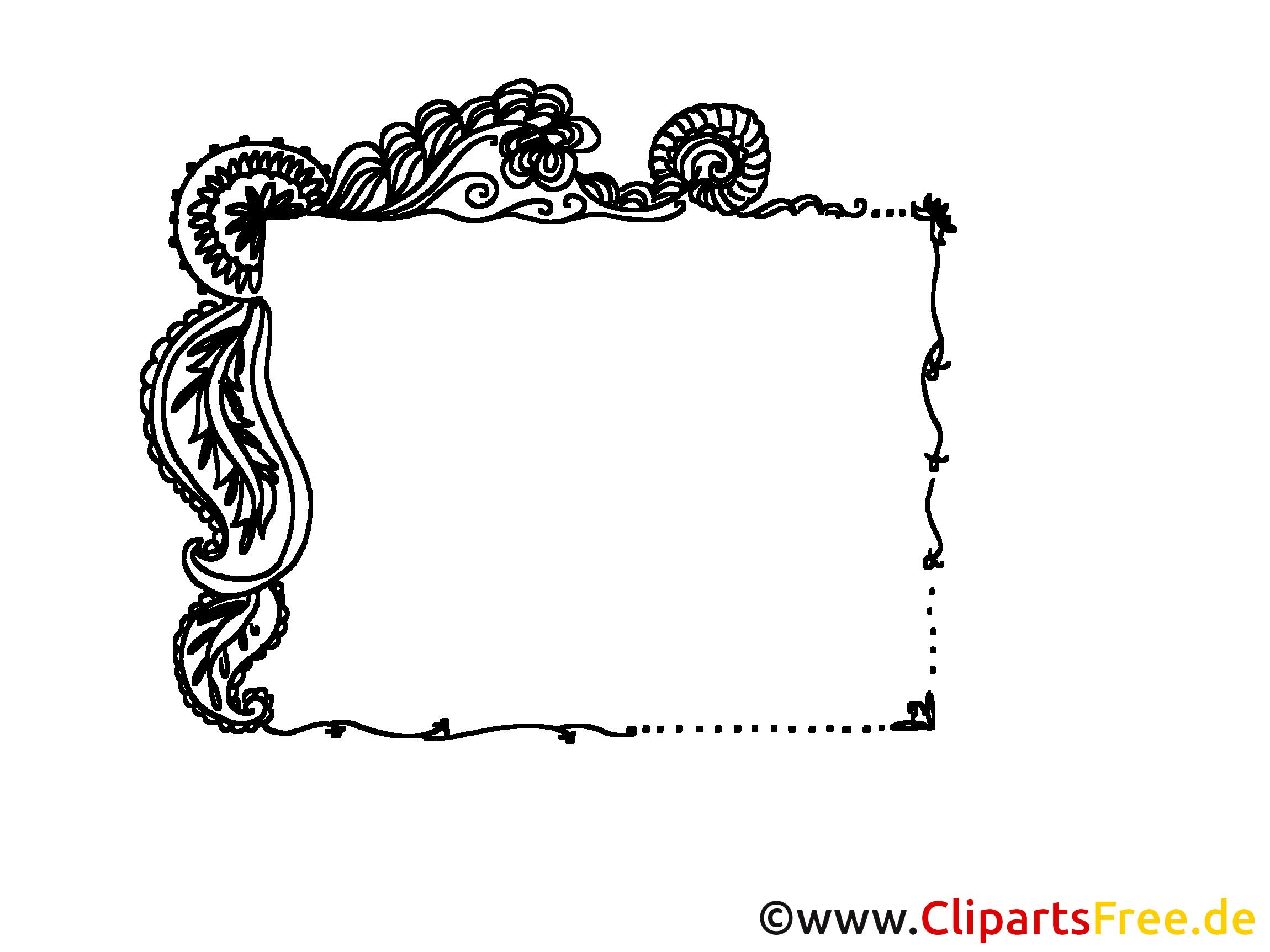 Coloriage dessin cadre cliparts à télécharger