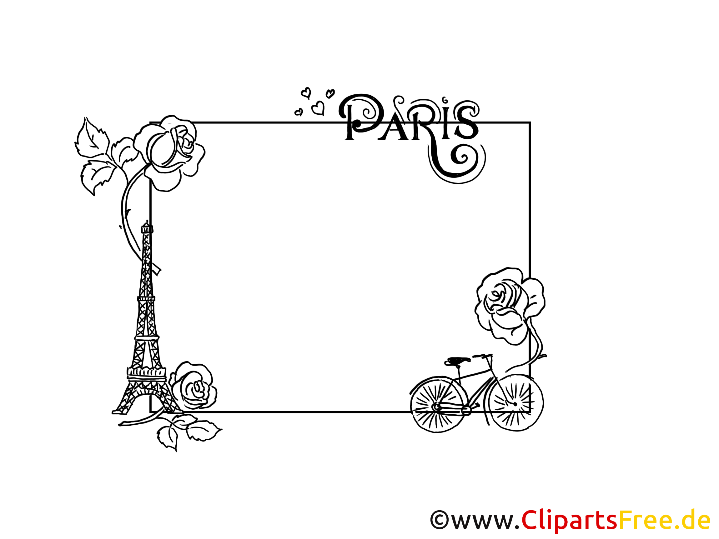 coloriage paris dessin t l charger cadre images cadres dessin picture image graphic. Black Bedroom Furniture Sets. Home Design Ideas