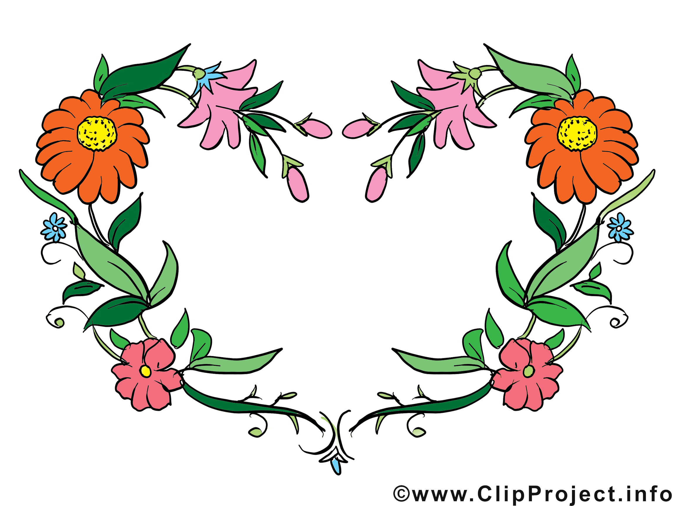 Fleurs dessin gratuit – Cadre image