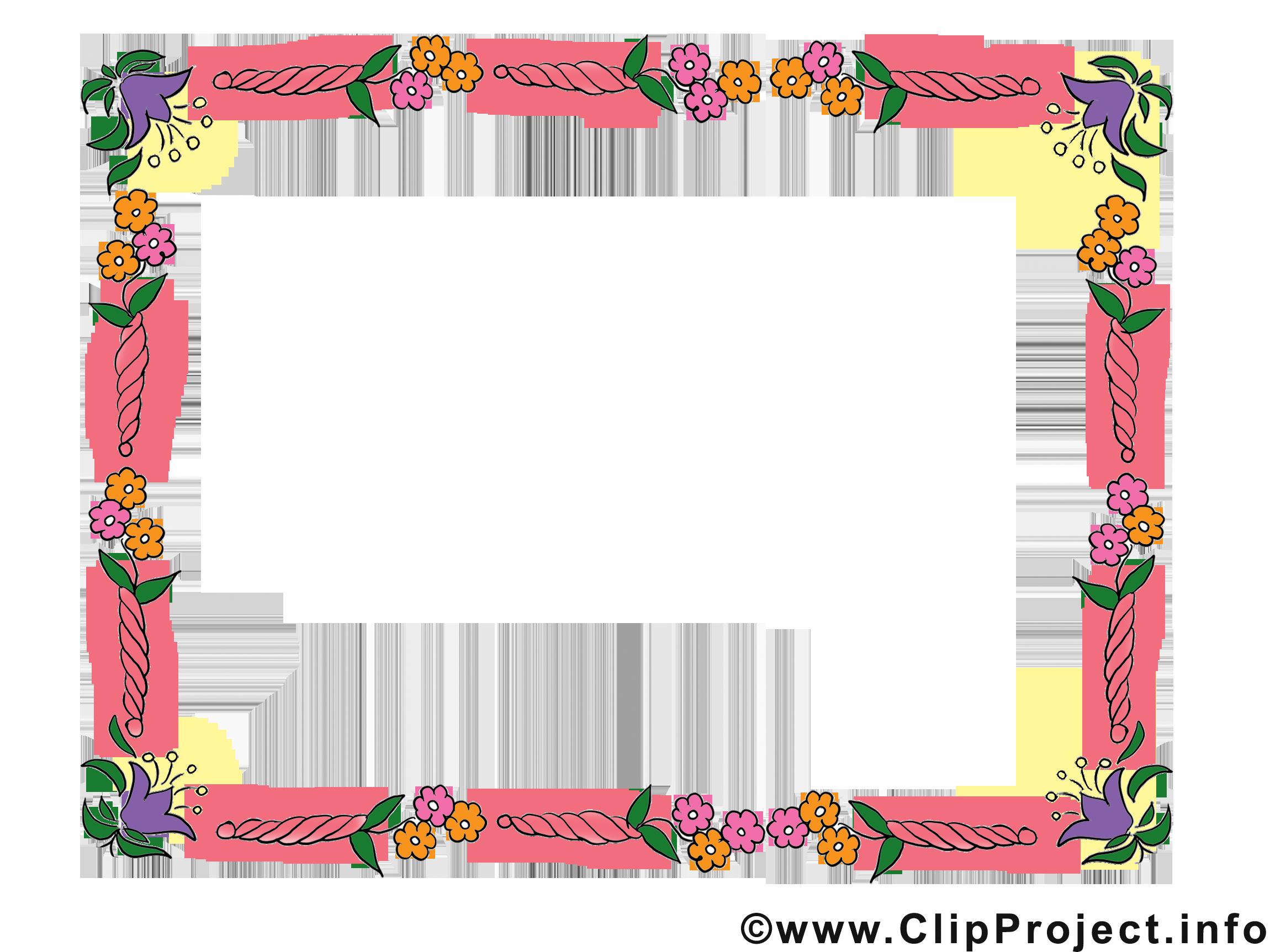 Fleurs image à télécharger – Cadre clipart - Cadres dessin ...