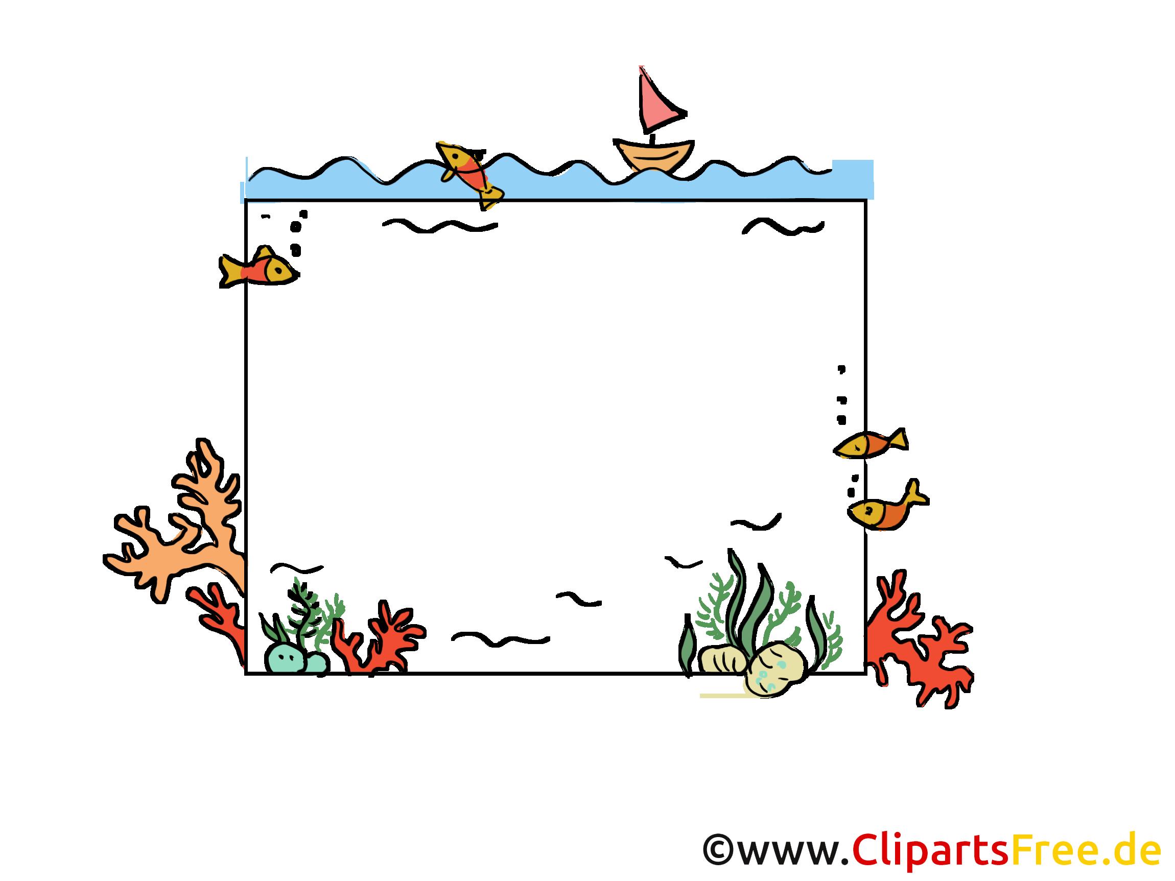 Mer bateau clip arts gratuits – Cadre illustrations