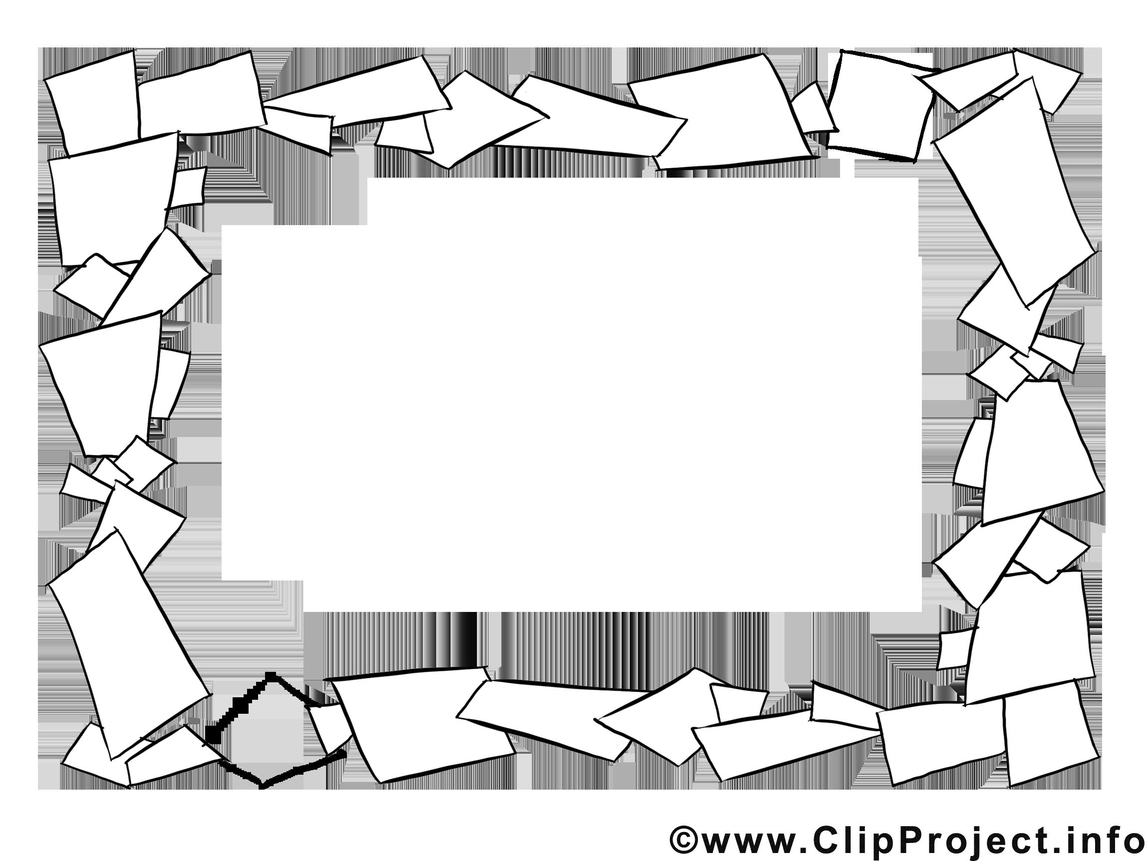 Papiers clip arts gratuits – Cadre illustrations