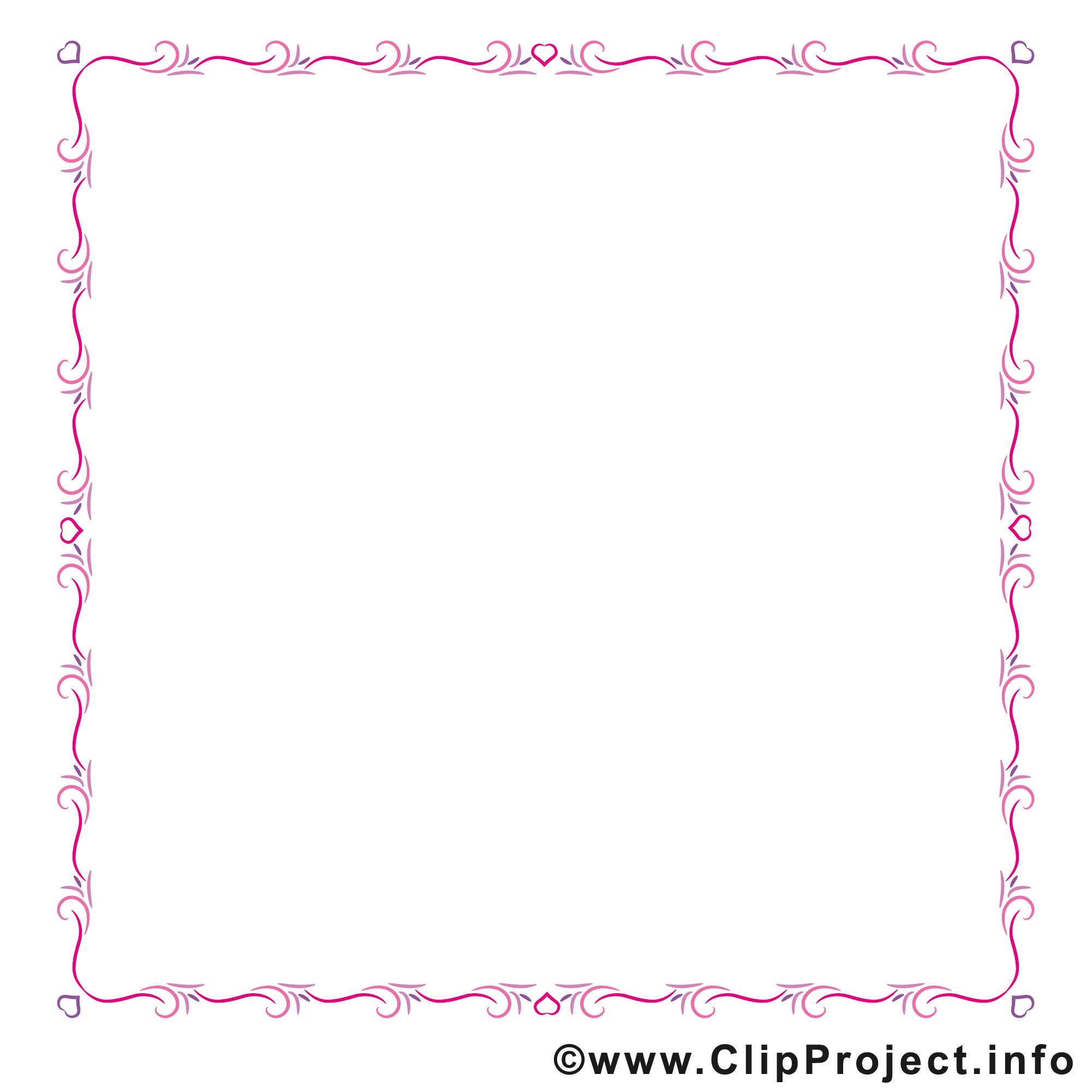 Rose tectangle images gratuites – Cadre clipart